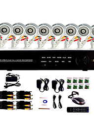 8 Channel One-Touch Online CCTV DVR System(8 Outdoor Warterproof Camera with Sony CCD)