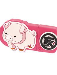 32Go Rose Beau motif de porc avec terrestre Direction USB2.0 Flash Drive