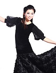Ballroom Dance Tops / Bottoms Women's Training Velvet Black Modern Dance Natural