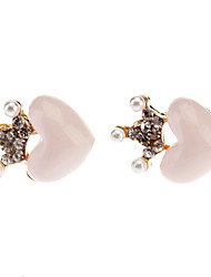 Crown Heart Earring