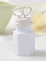 Wedding Décor Double Hearts Bubble Bottle - Set of 24 (Solution Not Included)