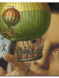 impressos da lona arte povo viagens de Gulliver por dan craig com quadro esticado