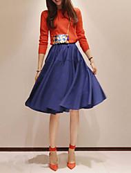Falda del A-line plisado vendimia de las mujeres