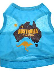 Australien Stil aus reiner Baumwolle Vest für Hunde (XS-L)