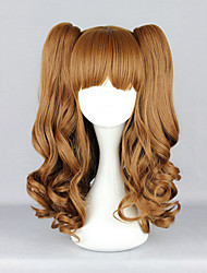 Lolita Wigs Sweet Lolita Lolita Medium / Curly Brown Lolita Wig 55 CM Cosplay Wigs Solid Wig For Women