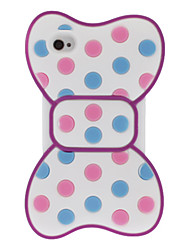 Rotonda Dots bowknot di stile di silice Caso Colorful 3D morbida per iPod touch 4