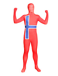 Red and Blue Cross Lycra Full Body Zentai