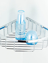 Triangle Rack Stainless Steel Single Tier Corner Shelf