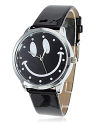 Women's Smiling Face Style PU Analog Quartz Wrist Watch (Black) Cool Watches Unique Watches Fashion Watch
