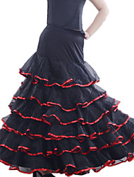 Ballroom Dance Skirts Women's Training Tulle / Viscose Natural
