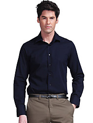 Color sólido camisa de manga larga formal de los hombres