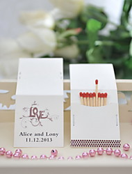 Wedding Décor Personalized Matchbooks - Love Pattern (Set of 50)
