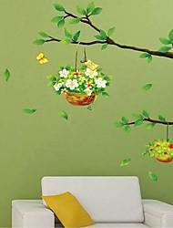 Basket of Flowers Wall Sticker