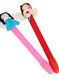 Flying Wings Girl Polymer Clay Pen (Random Color)