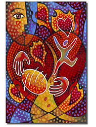 Printed Canvas Art Abstract Hearts on Fire by Jim Dryden with Stretched Frame