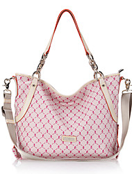 DAQIE Fuchsia Shoulder Tote Message Bag