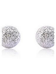 Élégantes Silver Pearl Boucles d'oreilles
