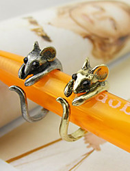 Women's Qute Mouse Alloy Ring