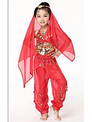 Belly Dance Stage Props Children's Training Chiffon Coins 1 Piece Veil
