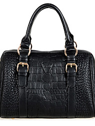 AIDELA Vintage Cow Leather Embossing Tote