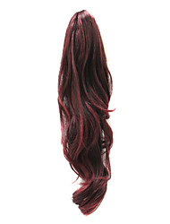 21 Inch Synthetic Black Color Popular Wave Ponytail Hair Extensions