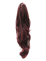 21 couleurs populaires vague Ponytail Hair Extensions synthétique noir pouces