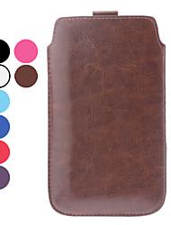 Solid Color PU-Leder Tasche für Samsung Galaxy N7100 Note 2