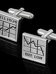 "Gift Groomsman ""Buy Low&Sell Hight""Cufflinks"