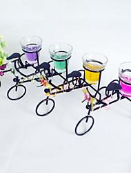 arredamento matrimonio bello ferro a forma di triciclo titolare tea light (più colori)