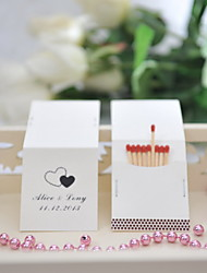 Wedding Décor Personalized Matchbooks - Double Hearts (Set of 50)