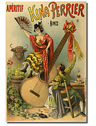 Printed Canvas Art Vintage Kina Perrier by Vintage Apple Collection with Stretched Frame