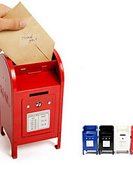 Creative Mini Mailbox Design Iron Money Bank