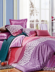 ARANDA Romantic Floral Cotton 4 Piece Duvet Cover Set 200*240cm