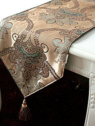Stile Jacqard Poly seta poliestere Table Runners europei