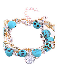 Women's Cuff Bracelet 18K Gold Plated/Rope