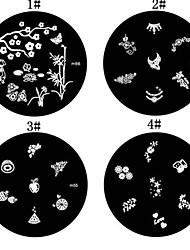 1PCS Nail Art Stamping Timbre Image de tasse Plate M Série n ° 2 (couleurs assorties)