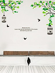 Arbres Branches Birdcage Wall Sticker