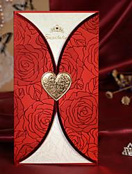 """Dobra-Portão Convites de casamento Cartões de convite-50 Peça/Conjunto Estilo Clássico / Estilo Floral Papel de Cartão8 ½""""×4 ½"""""""