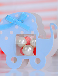 Cute Baby Carriage Shaped Wedding Favor Box - Set of 12 (Pearls Not Included)