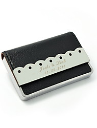 Personalized Nice Business Card Holder  With Leatherette Cover