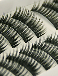 Long 10 Pairs Upper Curl Soft False Eyelashes(Black)