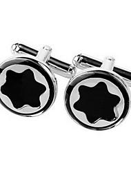 Schwarz sechseckigen Stern Manschettenknöpfe