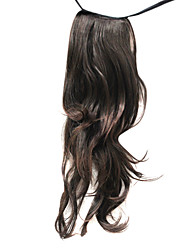 23 Browns synthétiques pouces Vague de queue de cheval des extensions de cheveux populaires