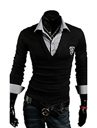 Men's Long Sleeve Polo Casual Pure