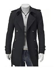 Men's Shoulder Pad Double Breasted Coat