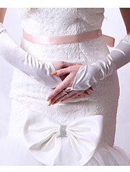 Elbow Length Fingerless Glove Satin Bridal Gloves/Party/ Evening Gloves
