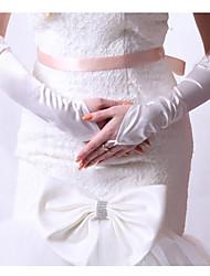 Elbow Length Fingerless Glove - Satin Bridal Gloves/Party/ Evening Gloves