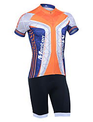 Monton Praising Life Men's Lycra Excellent Breathability Cycling Suits(Tops + 1/2 Shorts) with Cushion and Reflective Stripe