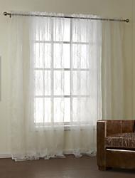 neoclássicos dois painéis florais botânicos quarto branco cortinas de poliéster shades