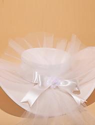 Elegante Satin und Alloy Mützen mit Tüll und Blumen für Hochzeit
